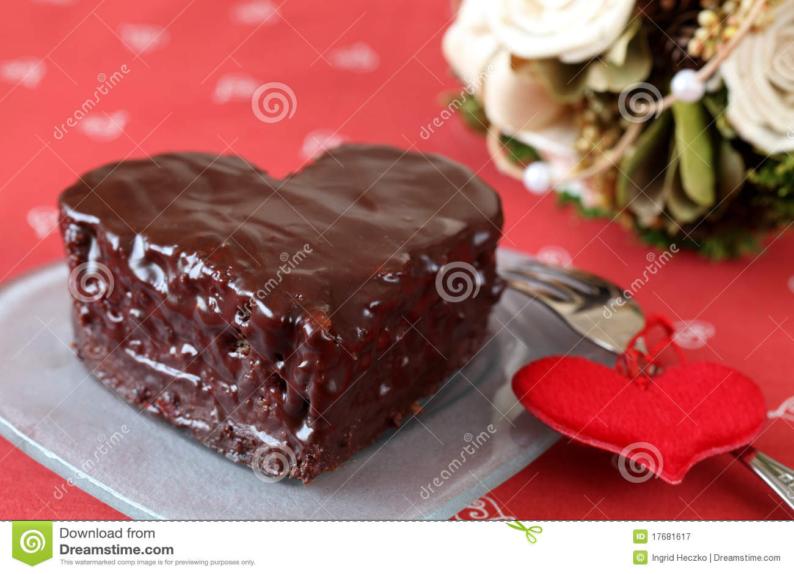 Kształtujący bukieta serce tortowy czekoladowy
