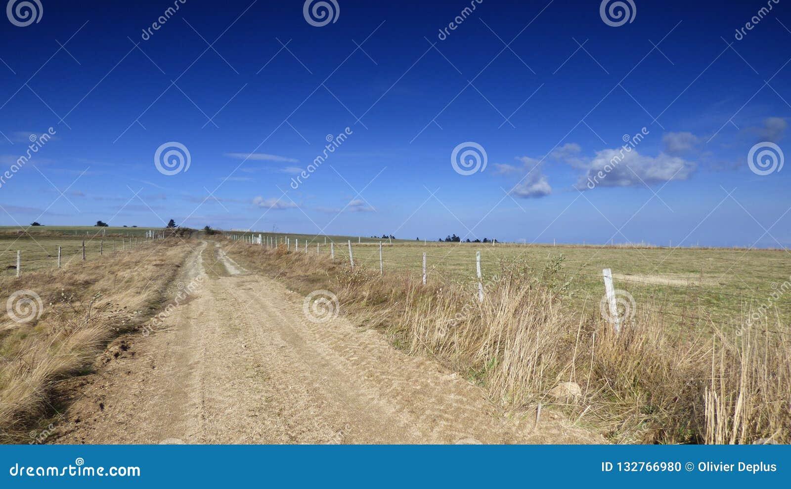 Kształtuje teren w livradois forez, Auvergne, France