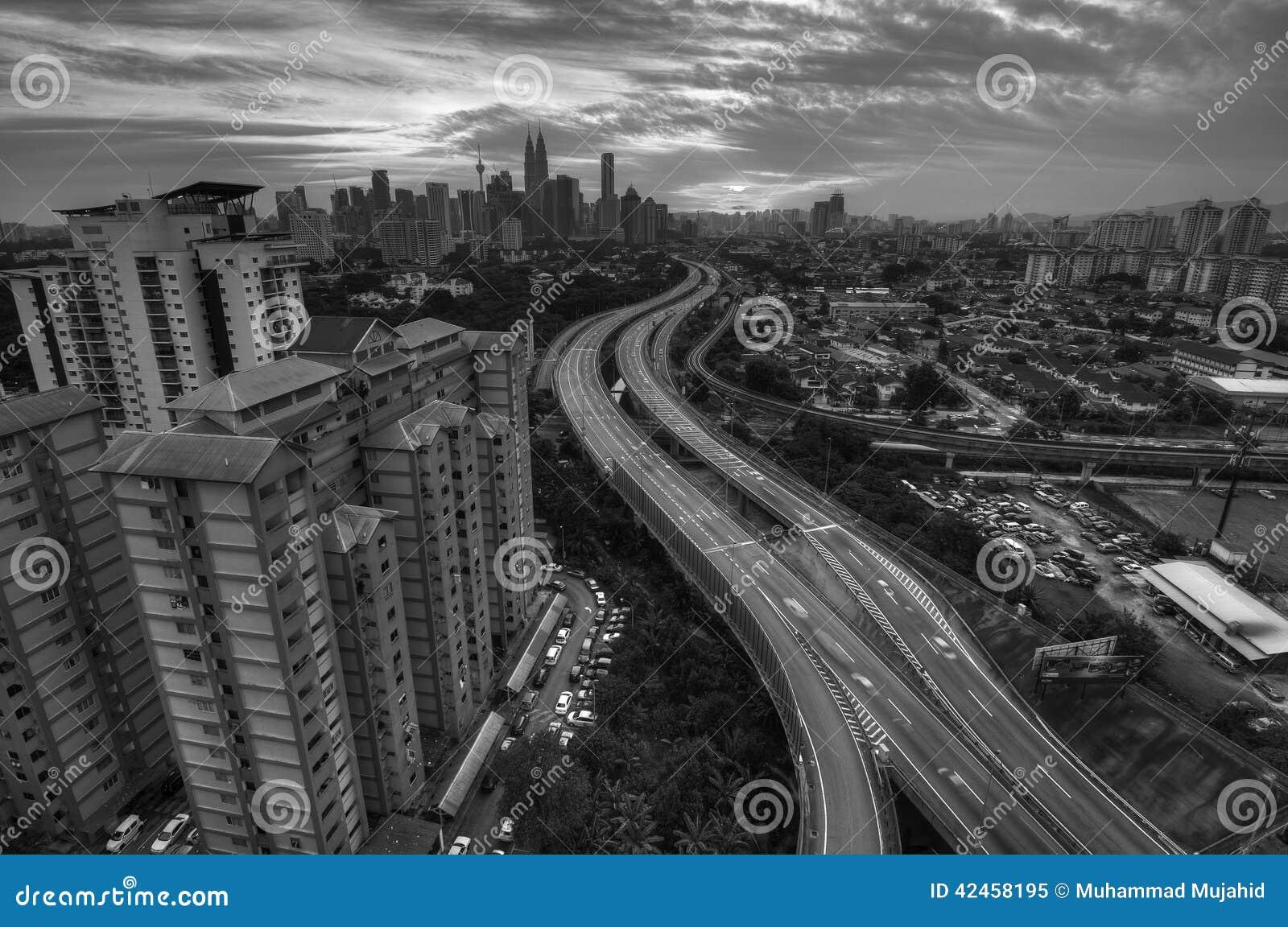 Kuala Lumpur B&W