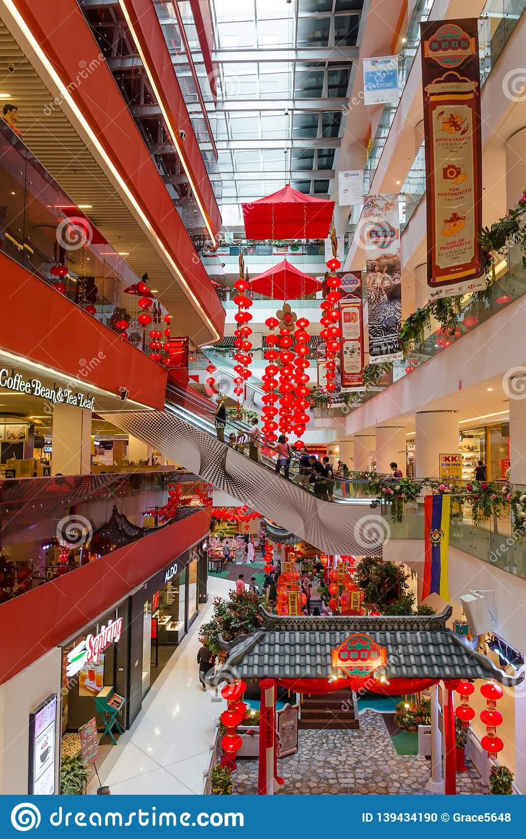 Beautiful Chinese New Year Decoration In Sunway Putra Mall