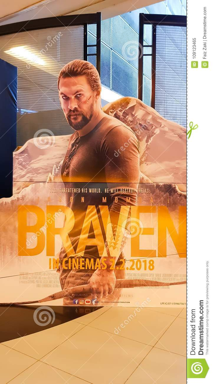 Braven movie poster editorial image  Image of company