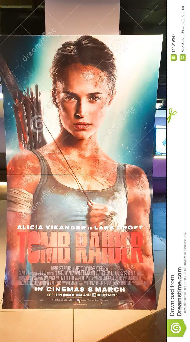Tomb Rider Movie Poster Editorial Photography Image Of Fighting 114319347