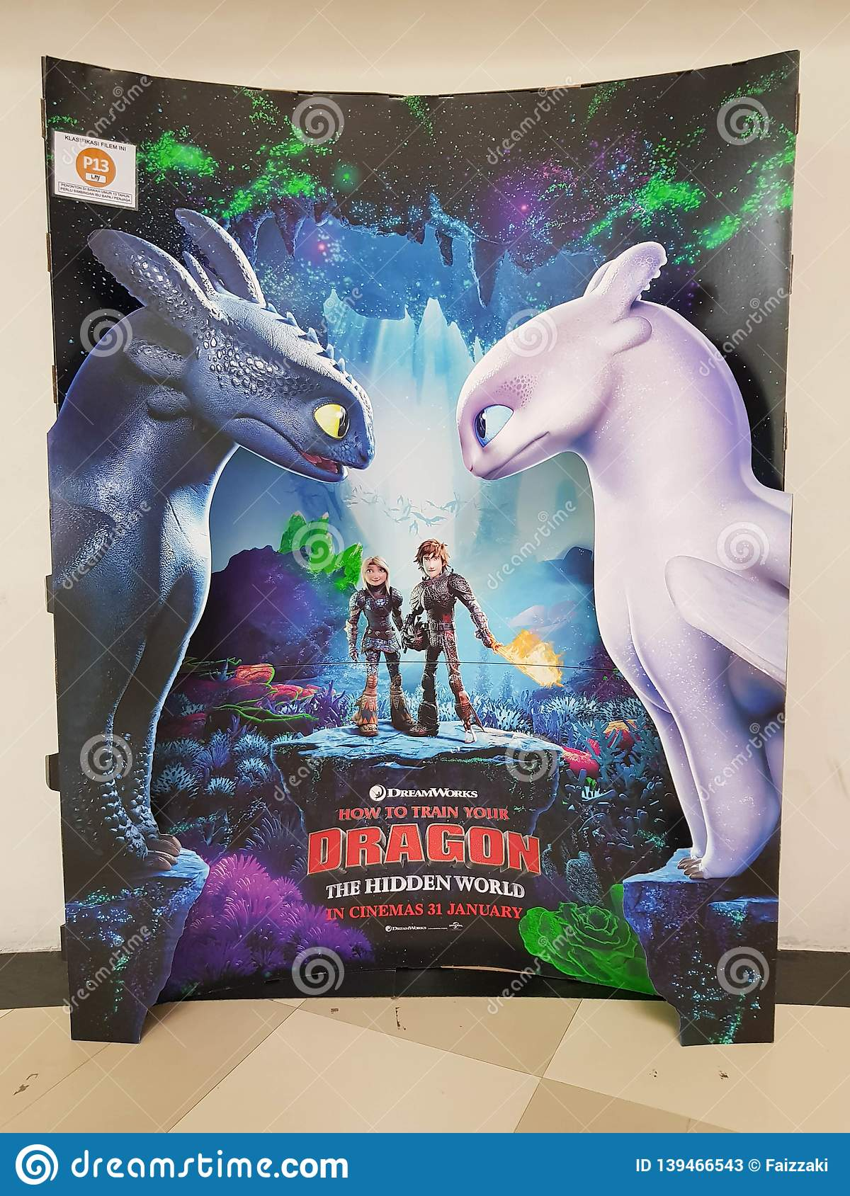 Beautiful Standee Of A Movie How To Train Your Dragon Hidden World Display At Cinema Theater Editorial Stock Photo Image Of Celebration Cartoon 139466543