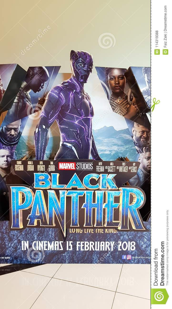 Black Panther movie poster editorial stock photo  Image of