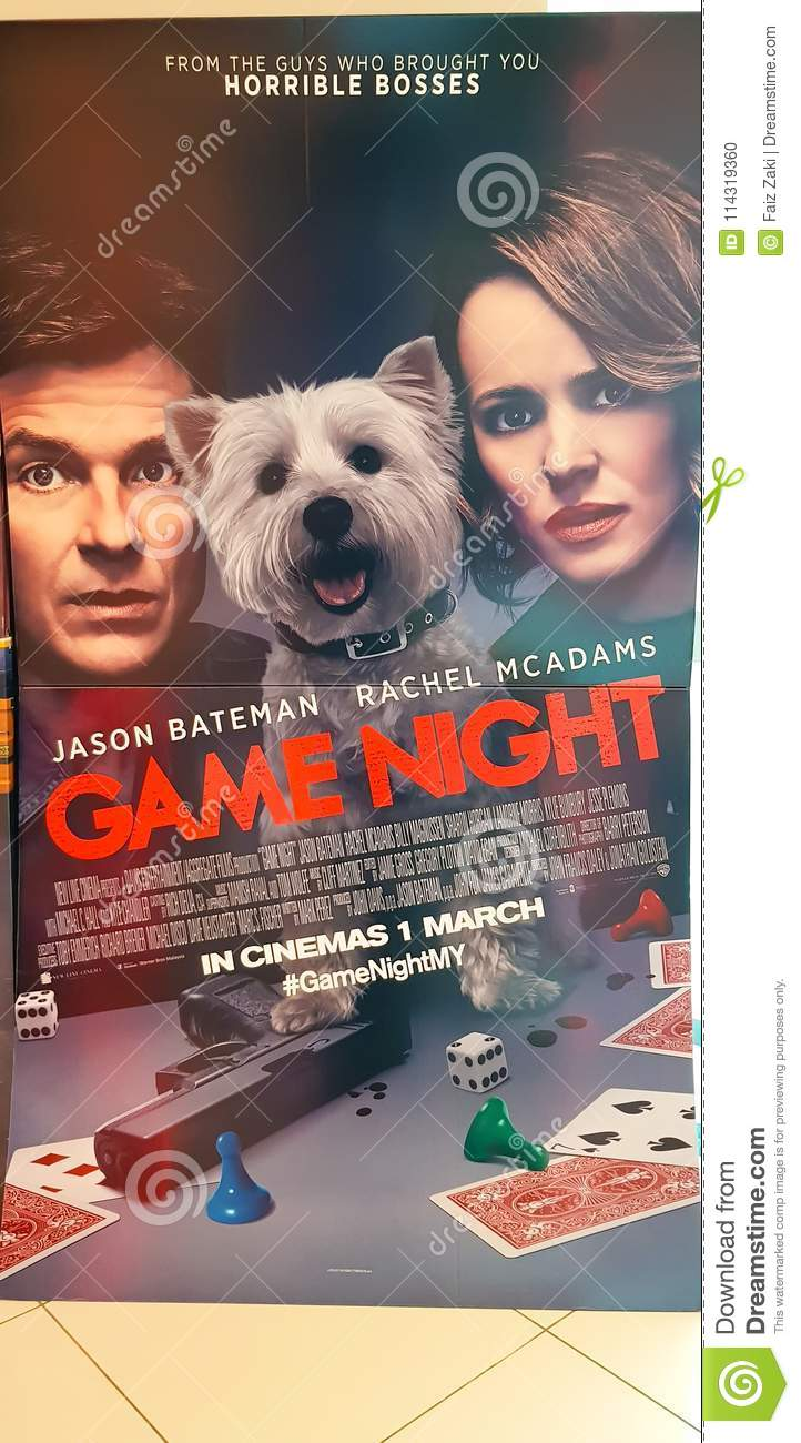 Game Night Movie Poster Editorial Image Image Of Cards