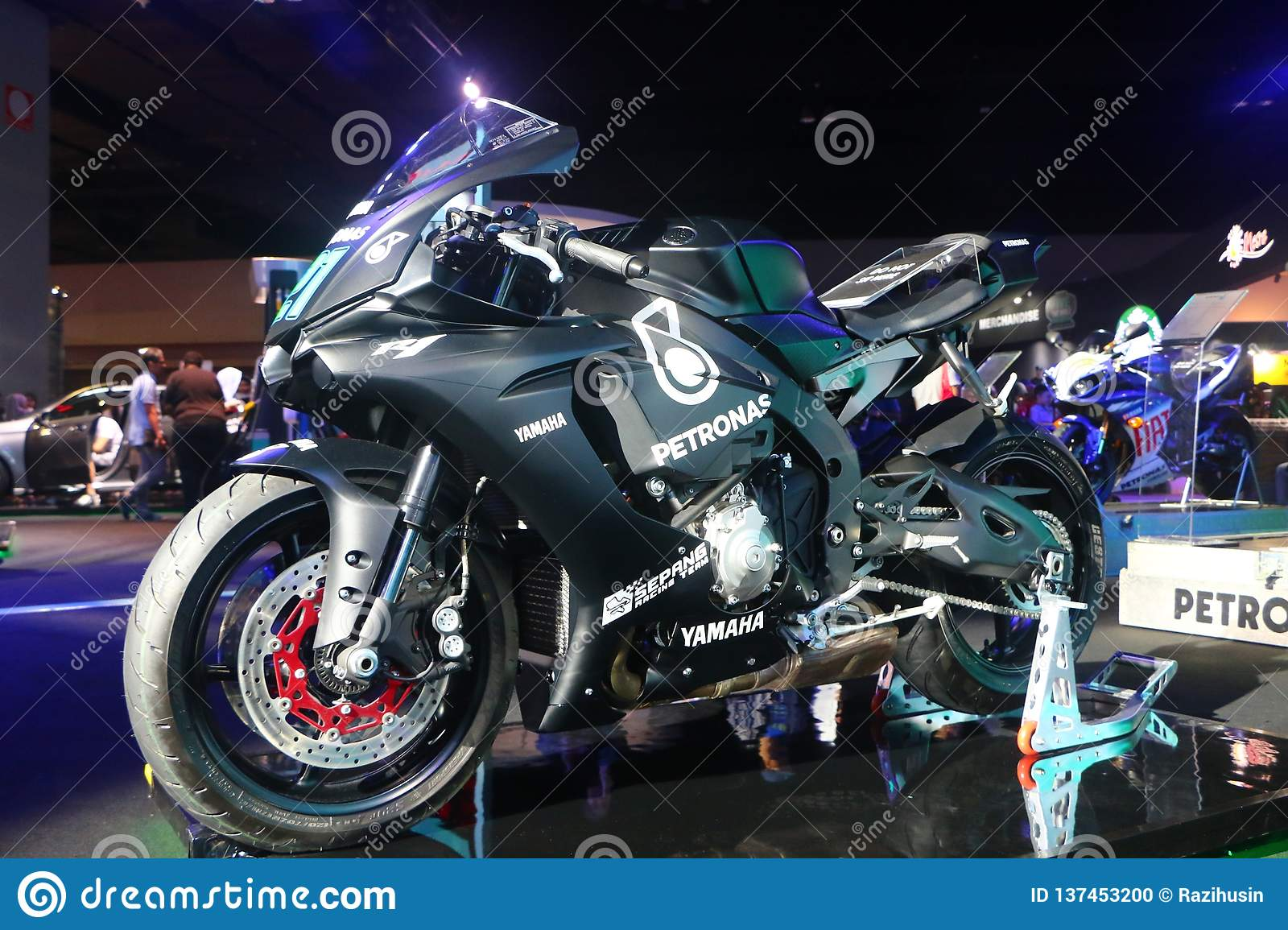 The Petronas Yamaha Yzr M1 No 21 Ridden By Franco Morbidelli From Sic Racing Team During Editorial Image Image Of Show Power 137453200