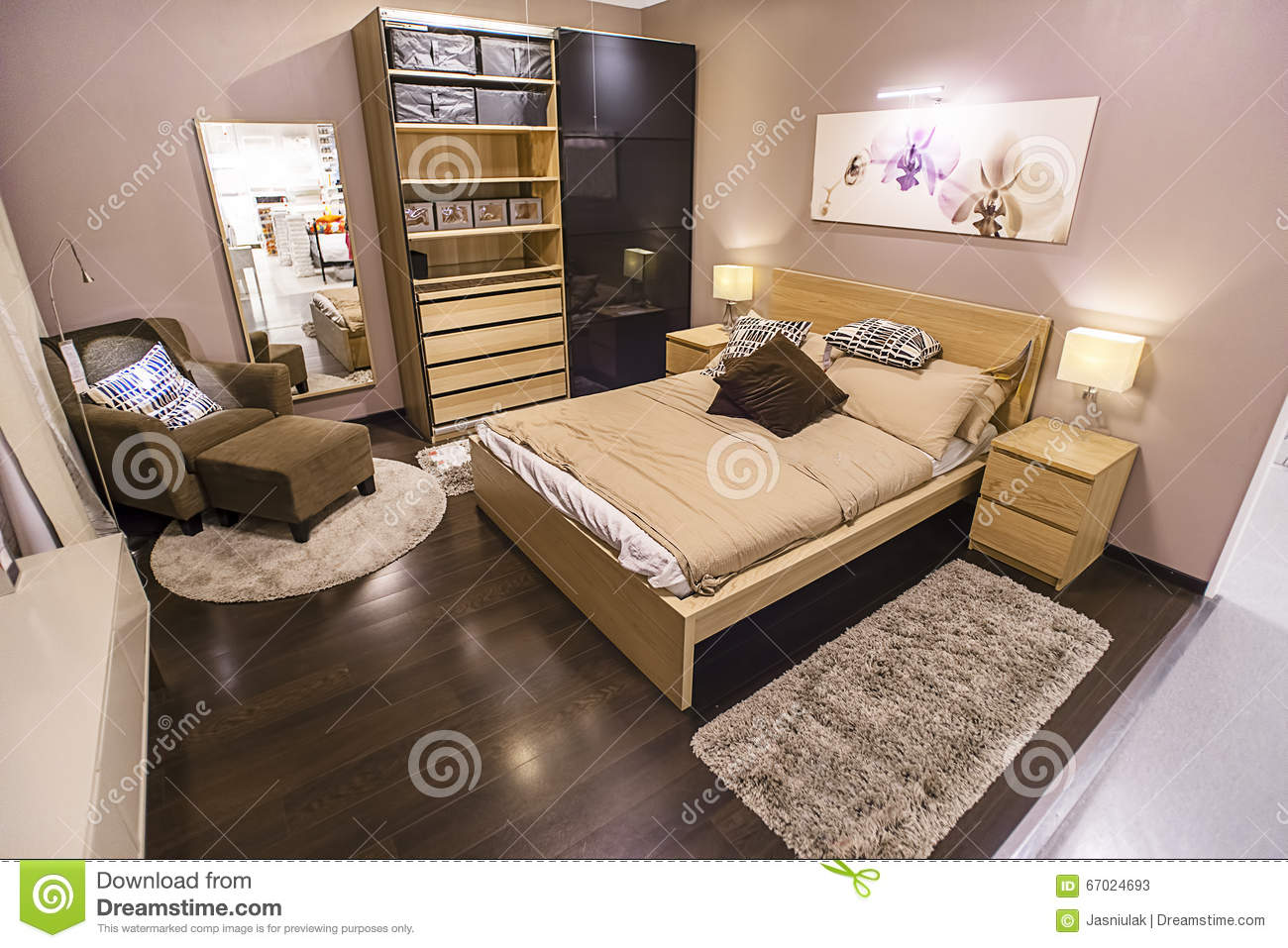 november 21 2015 a sample of the bedroom interior in ikea store