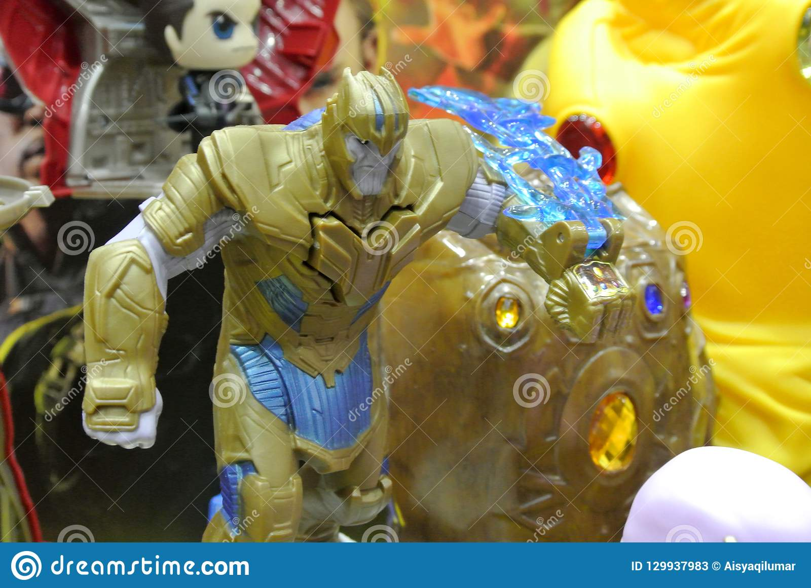 Thanos Supervillain Character Action Figure From Marvel