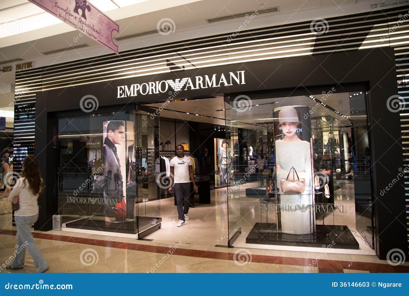 Kuala Lumpur Malaysia Sep 27 Emporio Armani Shop In