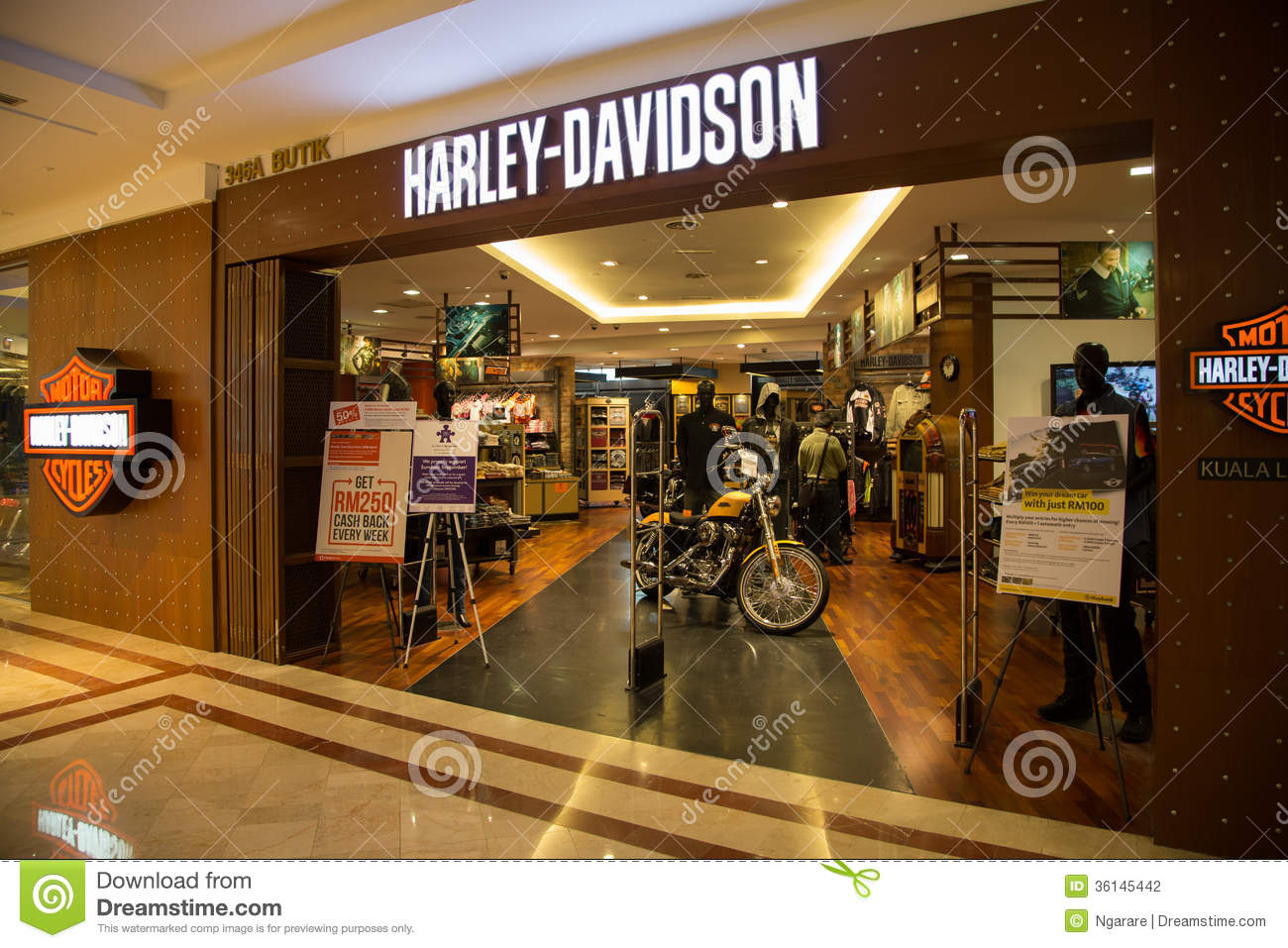 kuala lumpur malaysia sep 27 harley davidson shop in. Black Bedroom Furniture Sets. Home Design Ideas