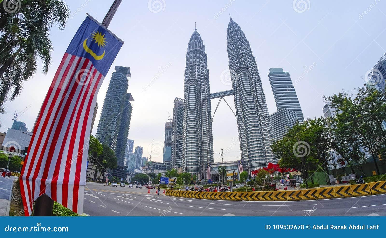 View Of Petronas Twin Towers Malaysia Editorial Stock Photo