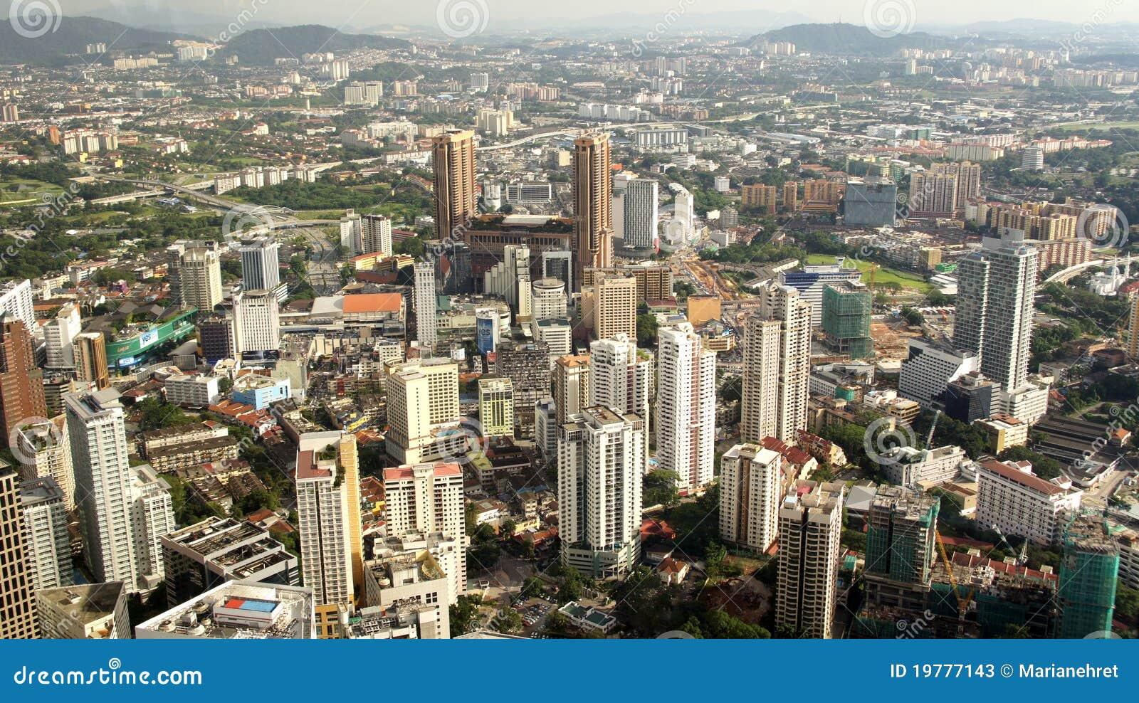 Kuala Lumpur s för affärsområde horisont