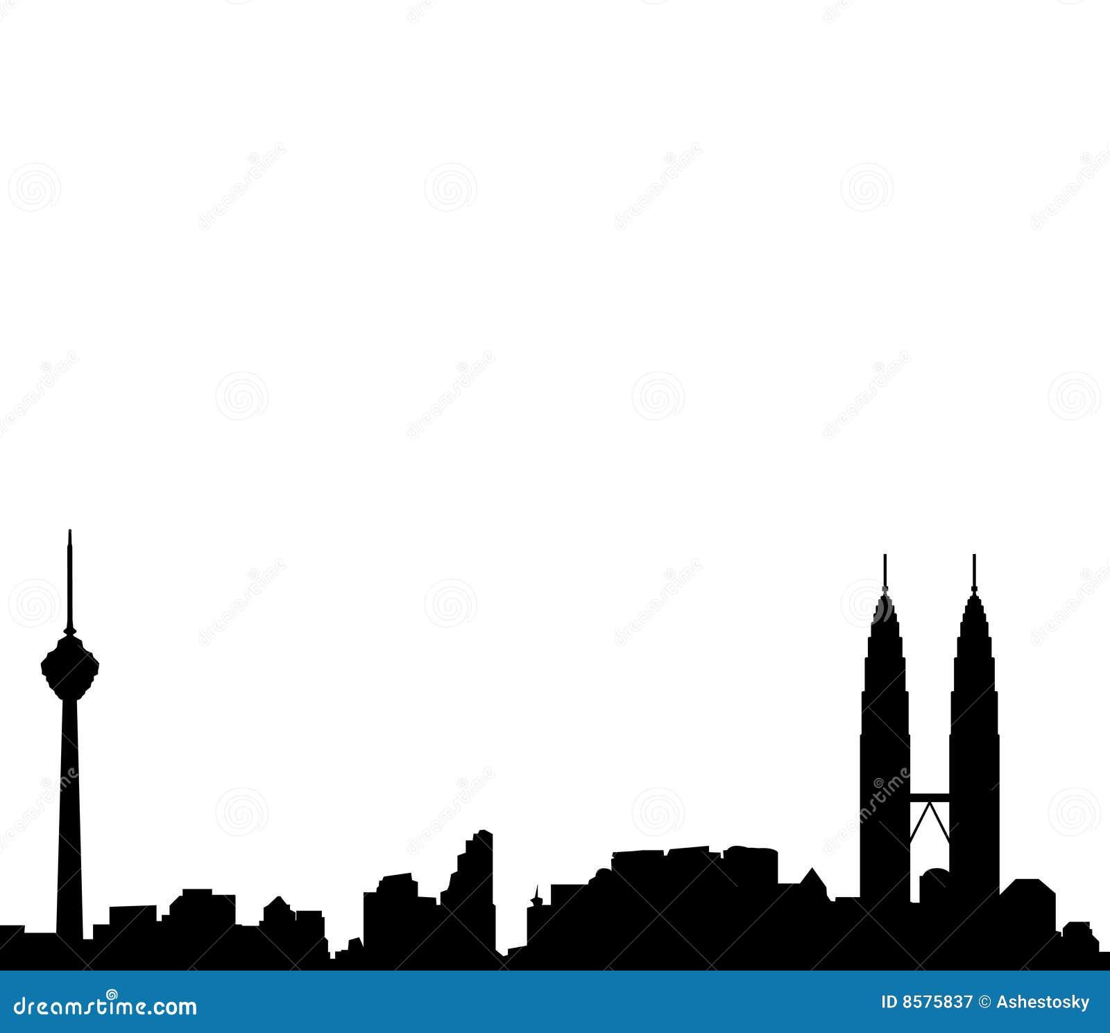 Kuala Lumpur Skyline Vector Royalty Free Stock Photography - Image ...