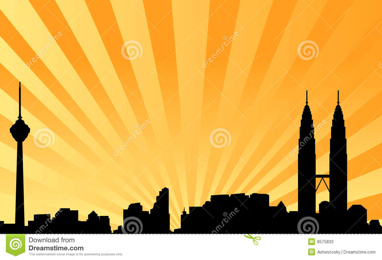 Kuala Lumpur Skyline Vector Background Stock Photos - Image: 8575833
