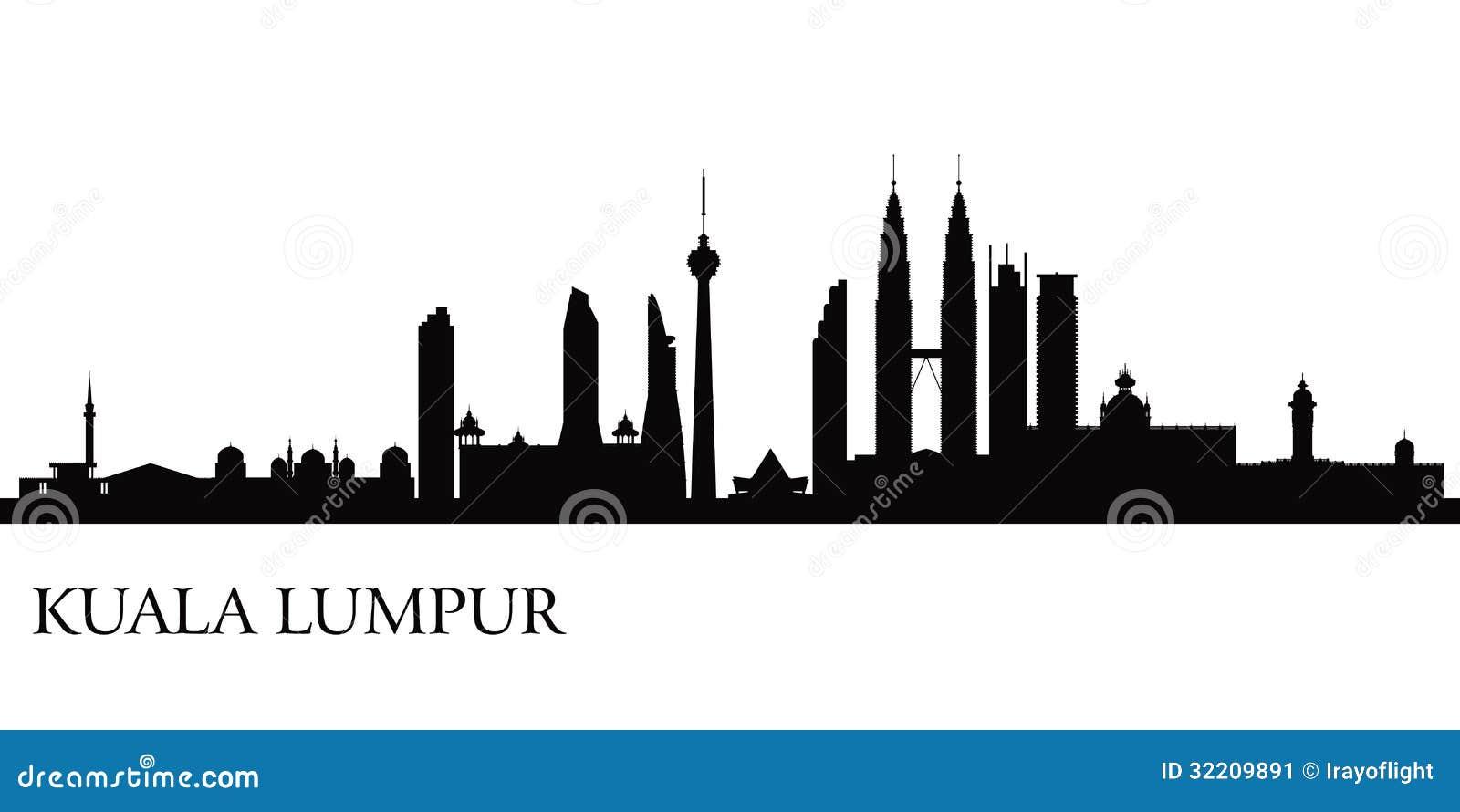 Kuala Lumpur stadshorisont