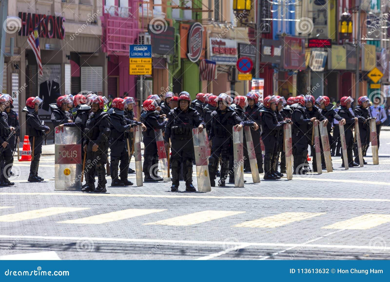 Kuala Lumpur Wilayah Persekutuan Malezja, Listopad 19 2016, -: Bersih 5 wiec był pokojowym demokratycznym protestem w Malezja