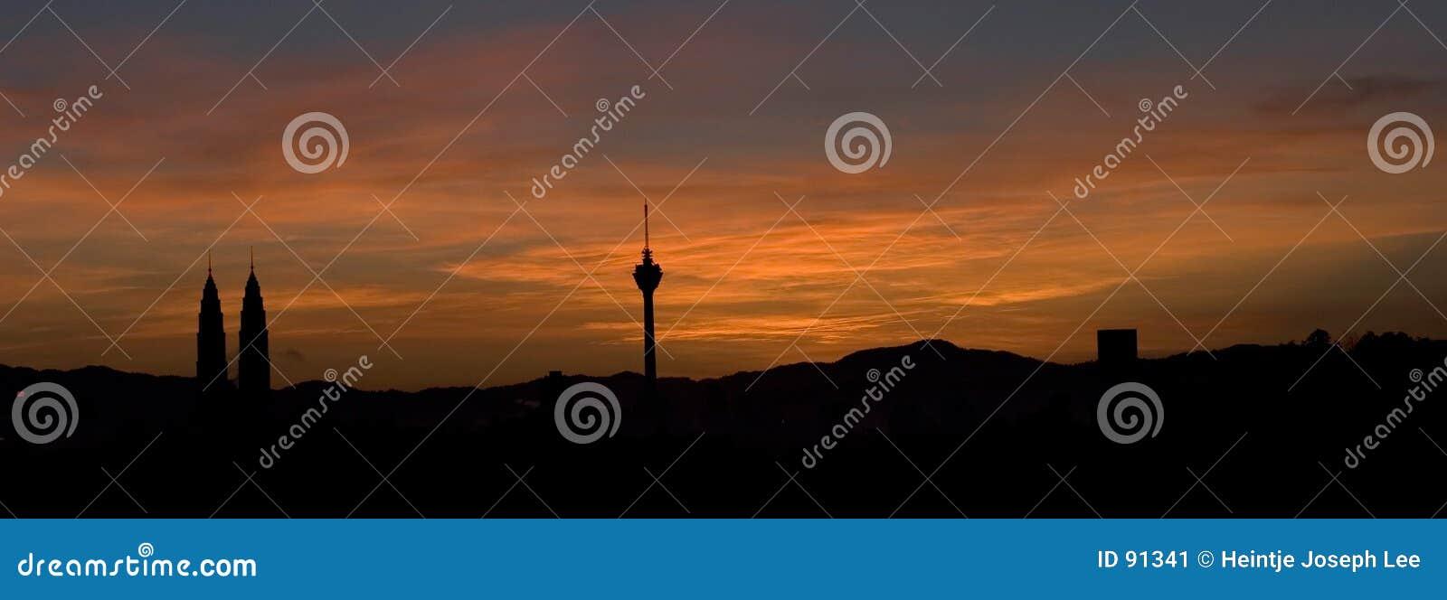 Kuala Lumpur wschód słońca
