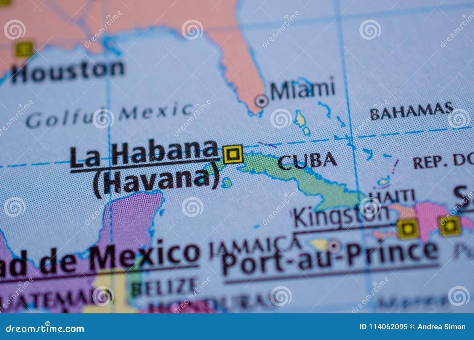 Karte Kuba.Kuba Auf Karte Stockbild Bild Von Küste Karibisch 114062095