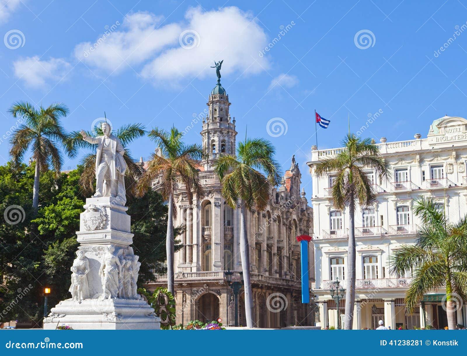 Kuba havarti W Centrala Parku Jose zabytek Marti