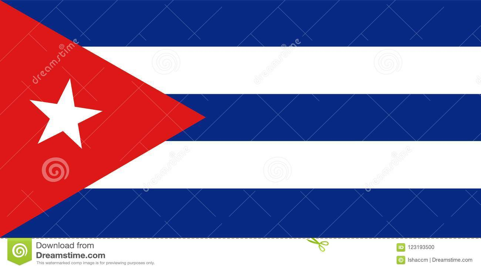 Kubaflaggavektor Illustration av Kubaflaggan