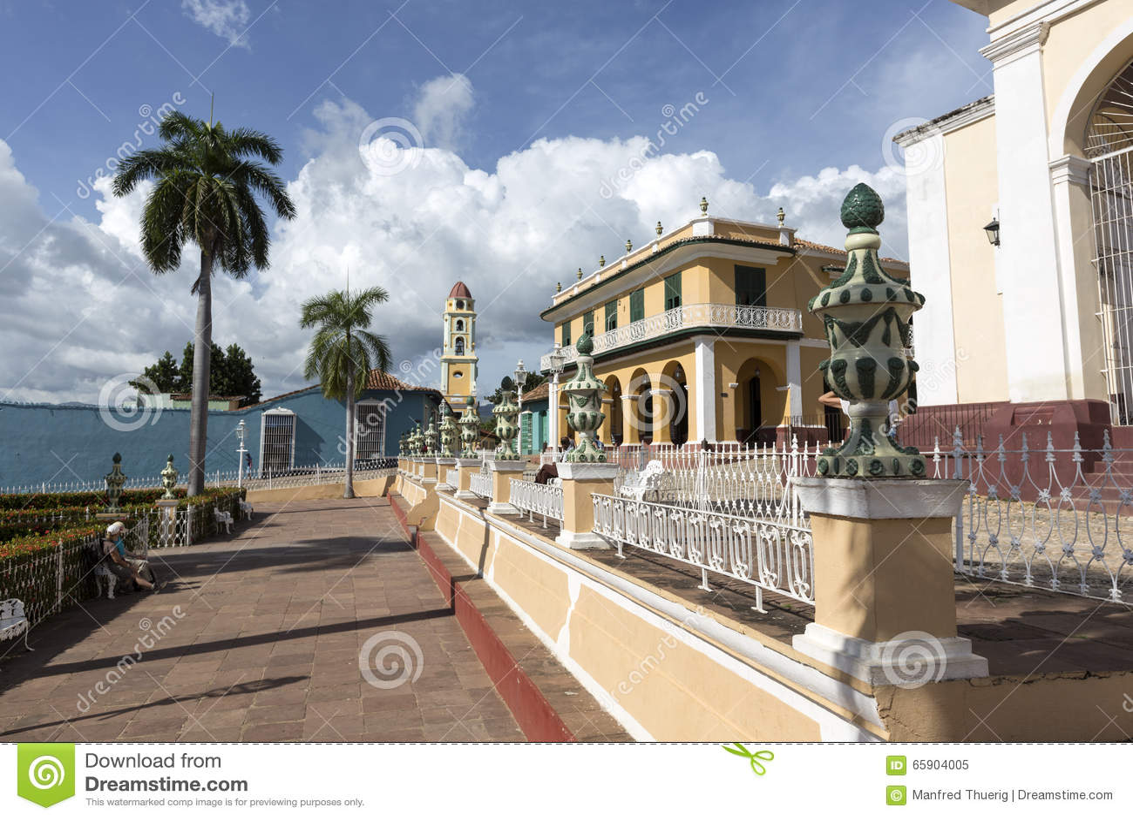 Kuban parkerar i Trinidad