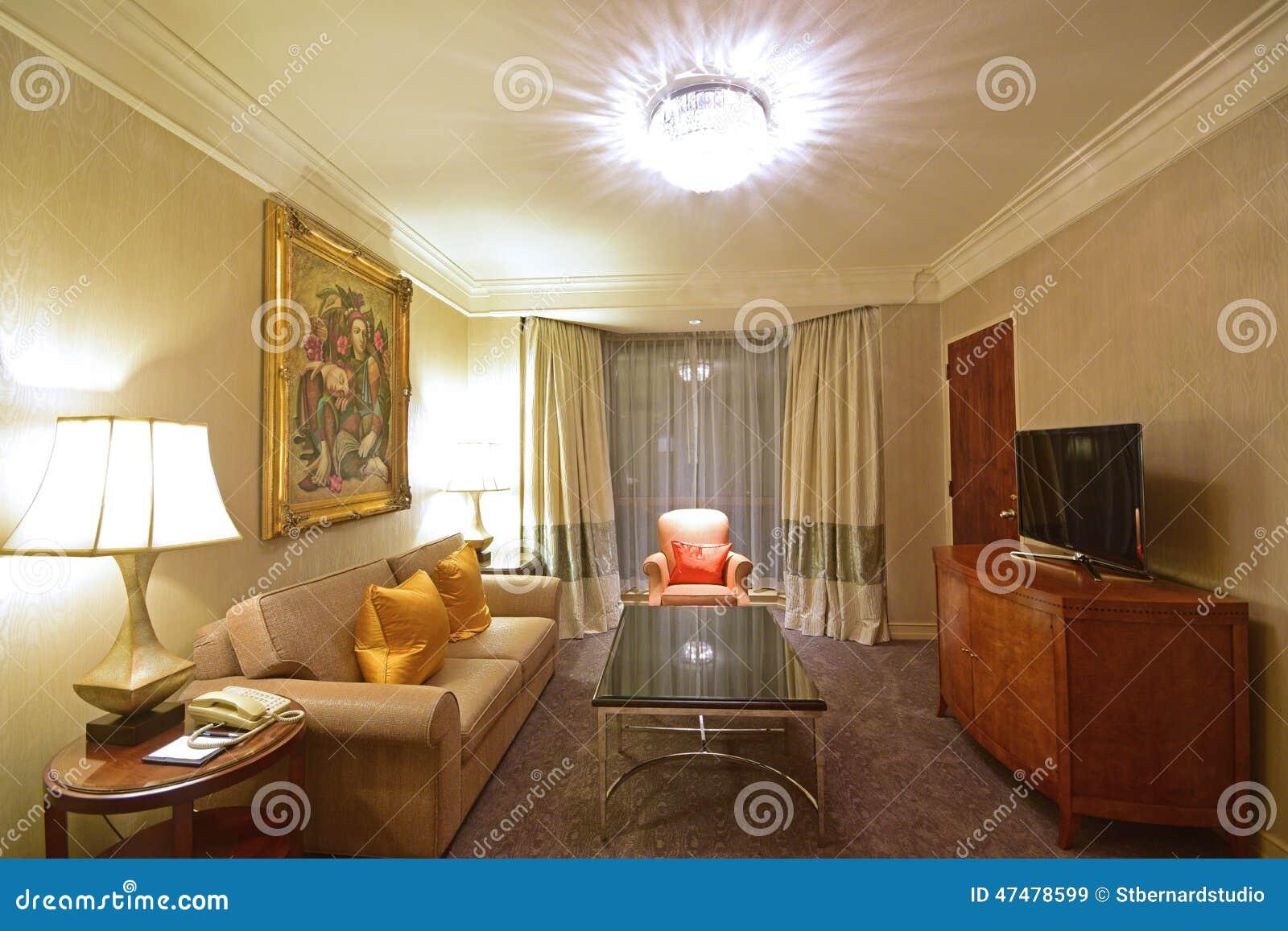 Kubanisches Themenorientiertes Wohnzimmer Einer Luxushotel Reihe
