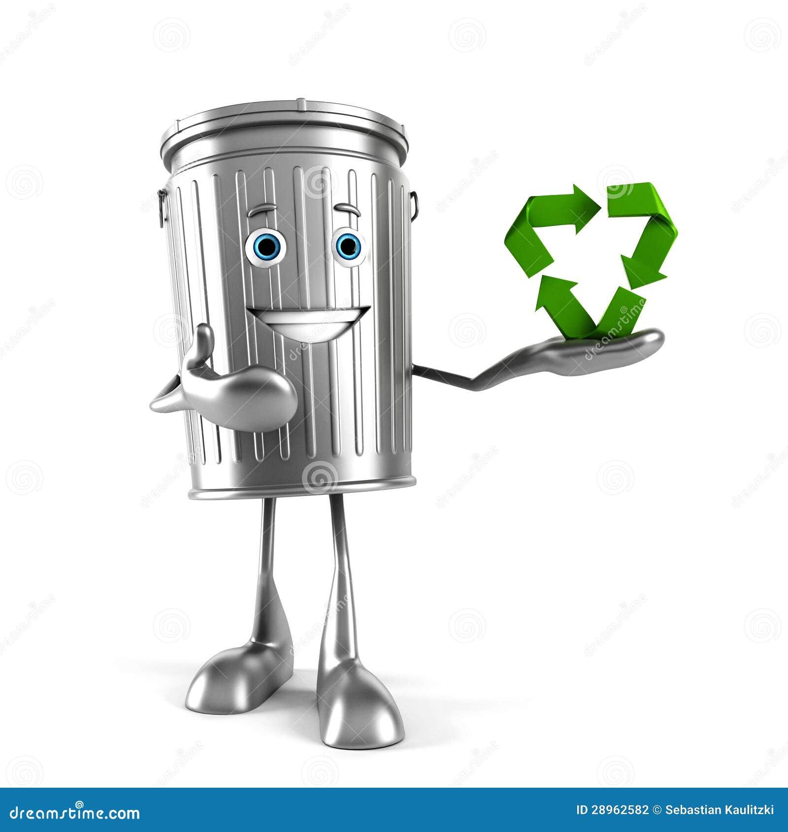 Kubeł na śmieci charakter