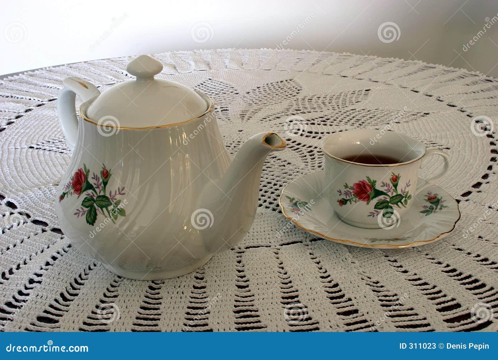 Kubek herbaty trawy