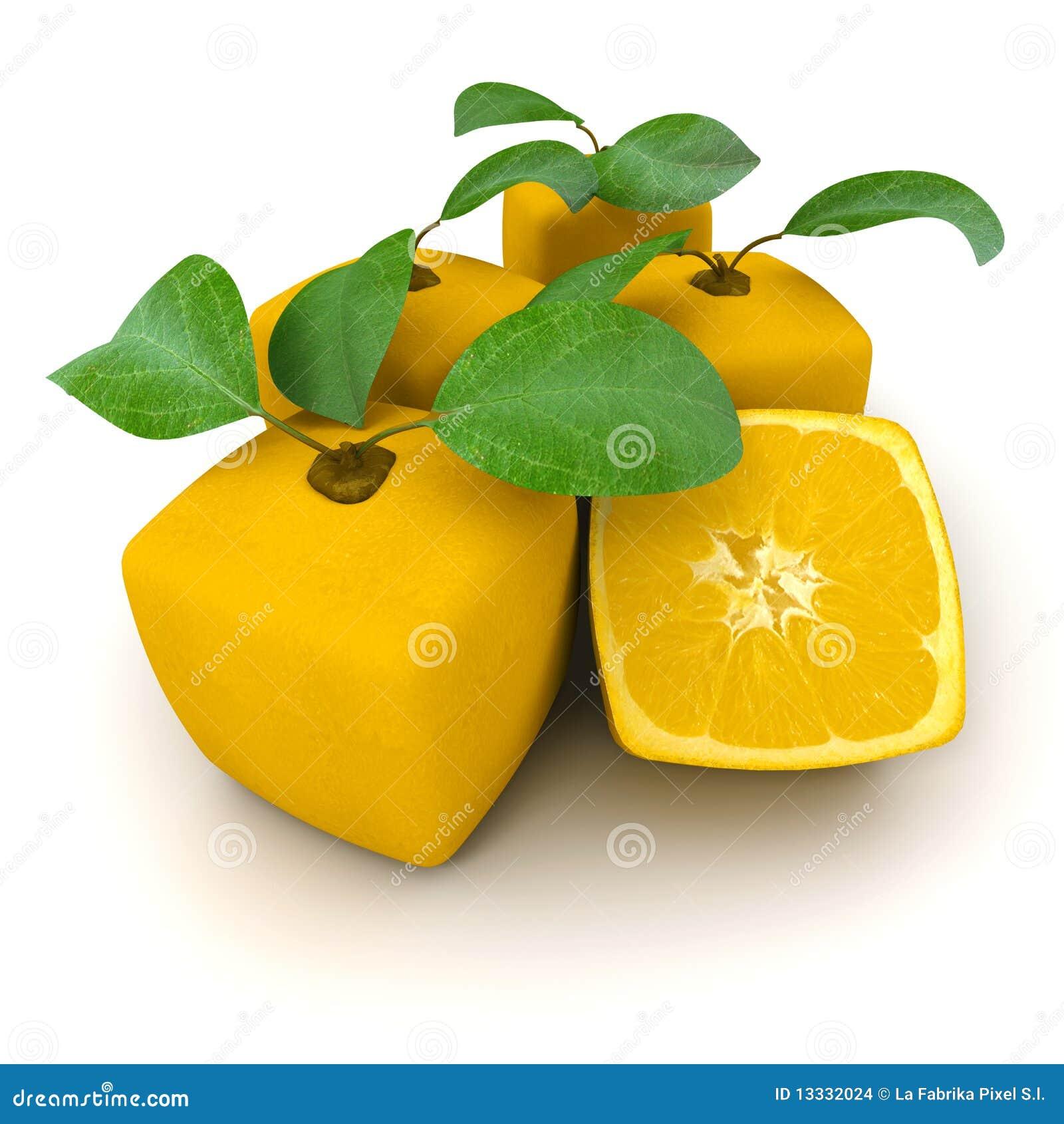 Kubiczne grupowe pomarańcze