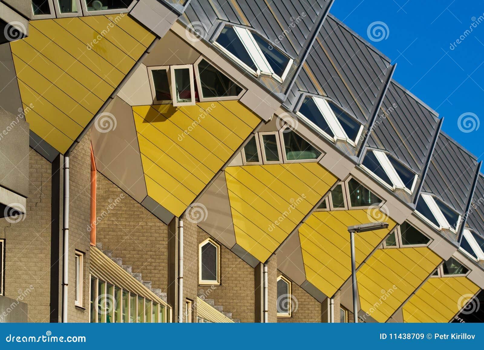 kubieke huizen in rotterdam royalty vrije stock