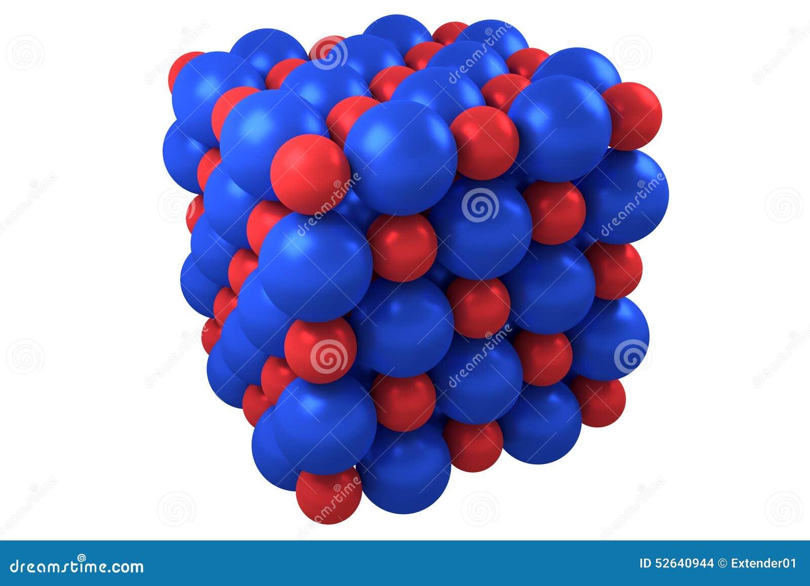 Kubikkristallstruktur Des Moleküls Stock Abbildung