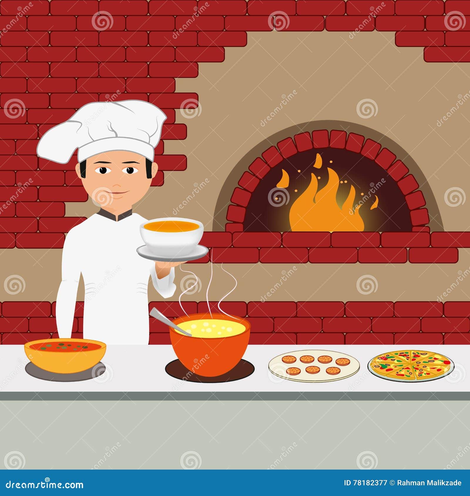 Kucbarski szef kuchni - Szczęśliwy szefa kuchni mienia półmisek