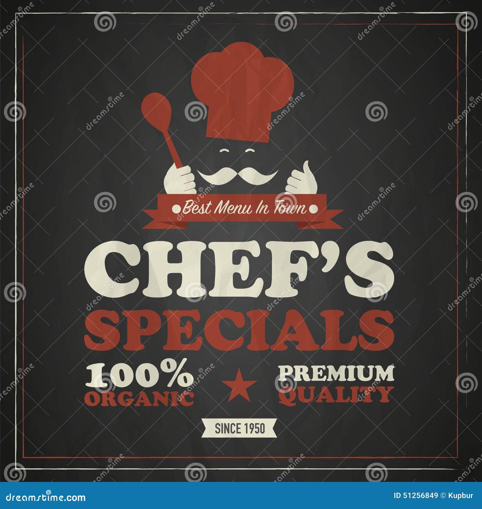 Kucbarski szefa kuchni rocznika plakat