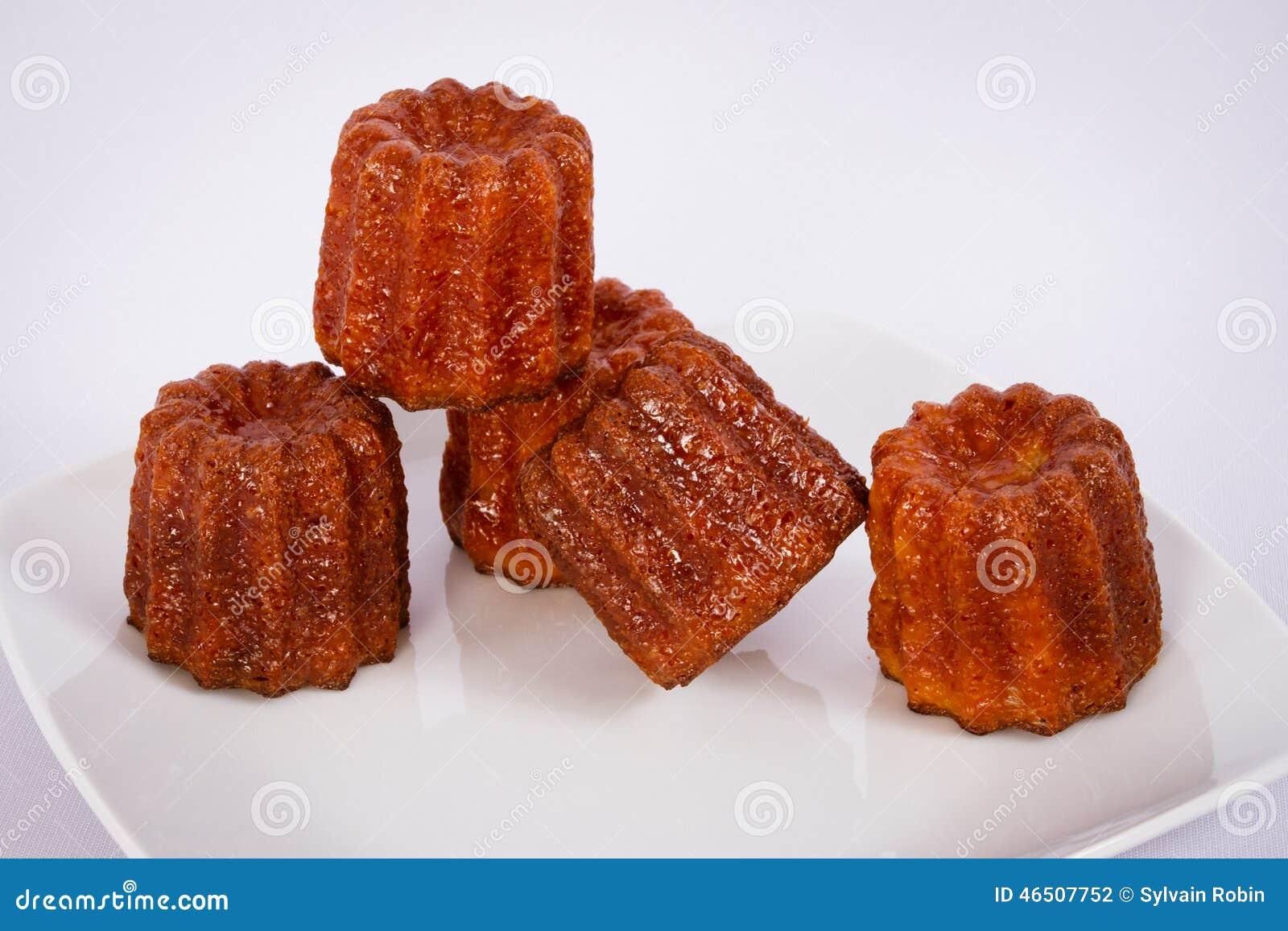Kuchen canneles von Frankreich