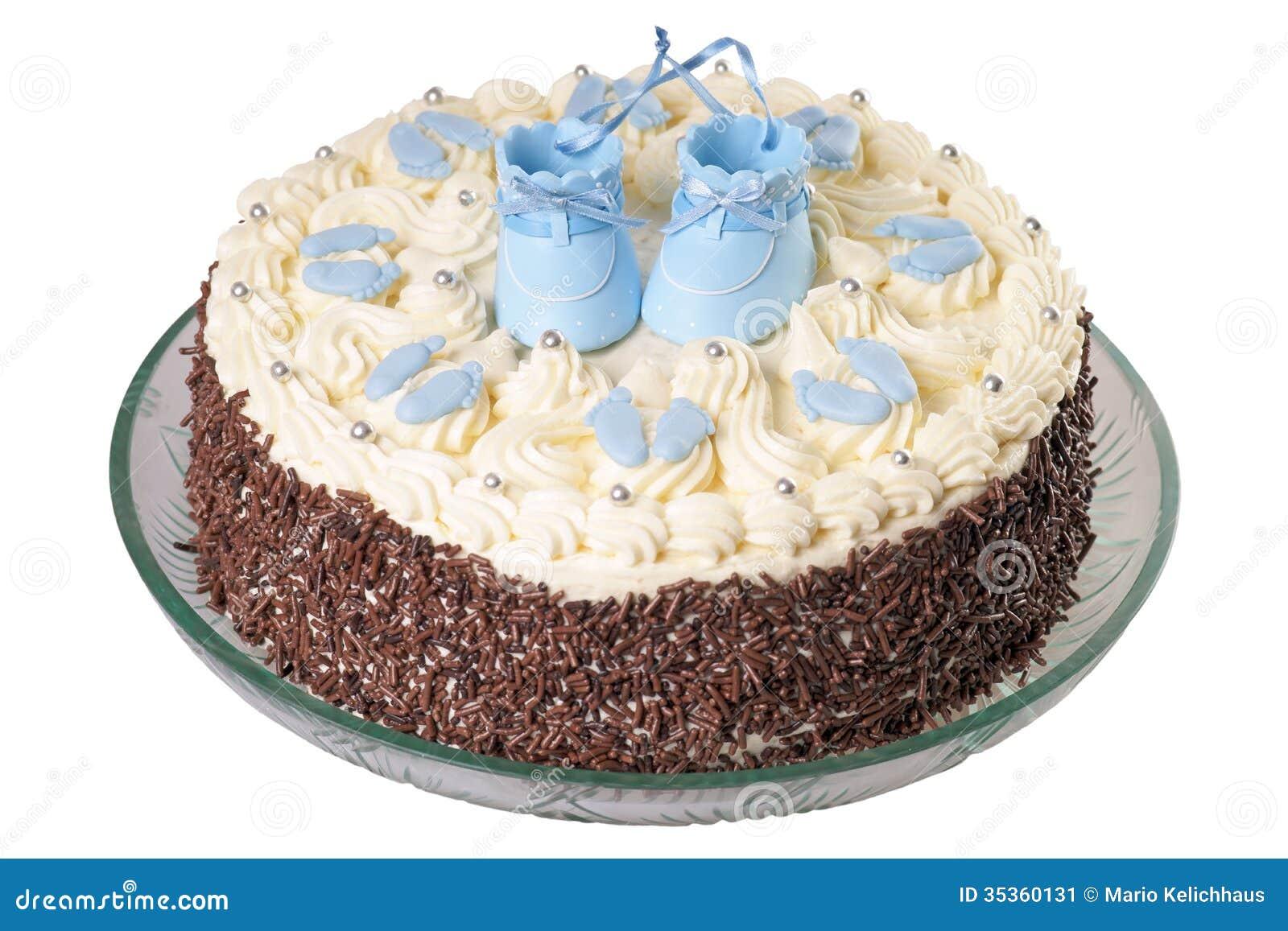 Kuchen Fur Ein Baby Stockbild Bild Von Willkommen Geburt 35360131
