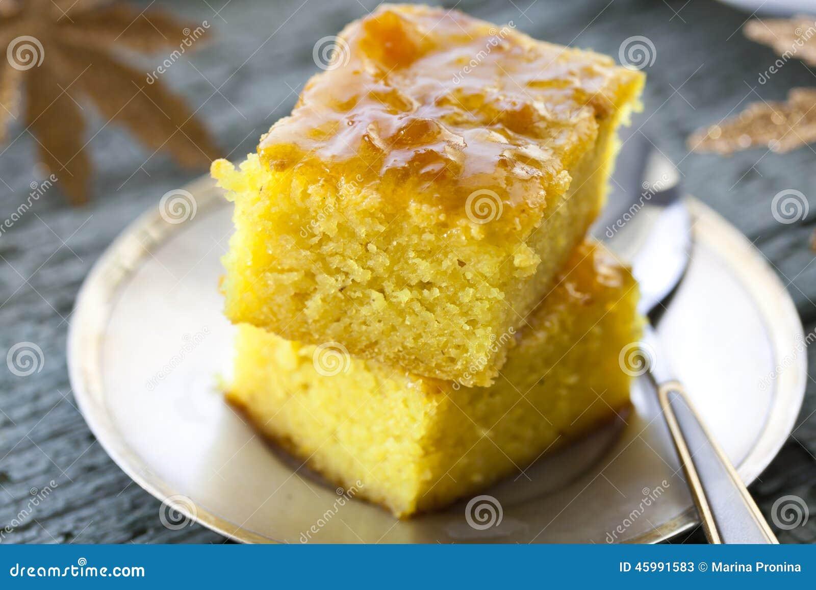 Kuchen Mit Griess Und Stau Stockbild Bild Von Nachtisch 45991583
