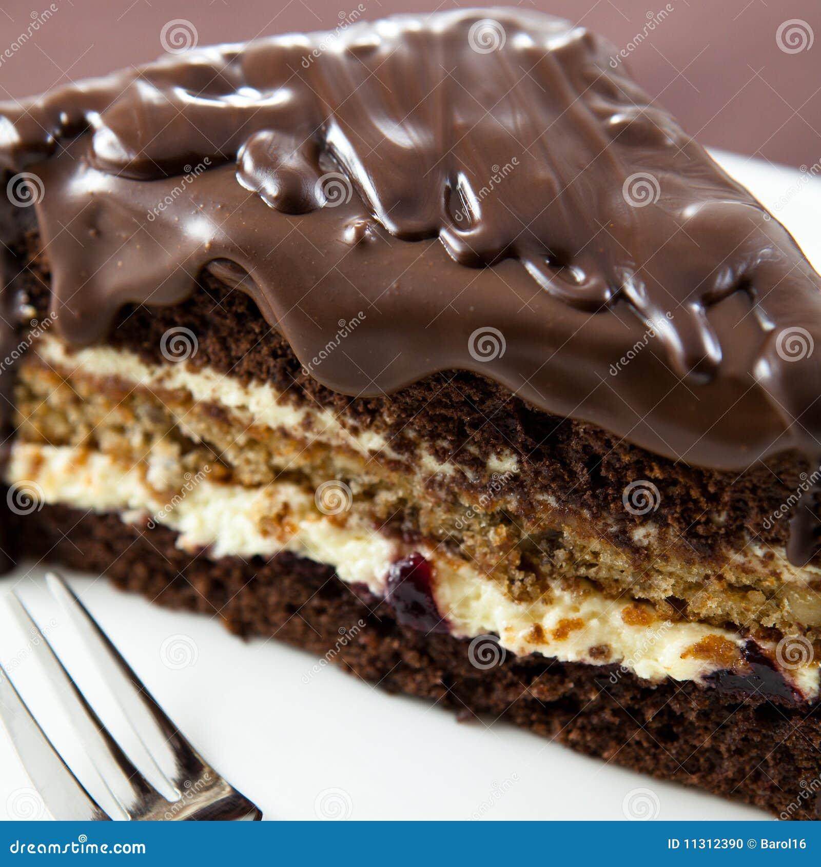kuchen mit schokoladenglasur stockfoto bild 11312390. Black Bedroom Furniture Sets. Home Design Ideas