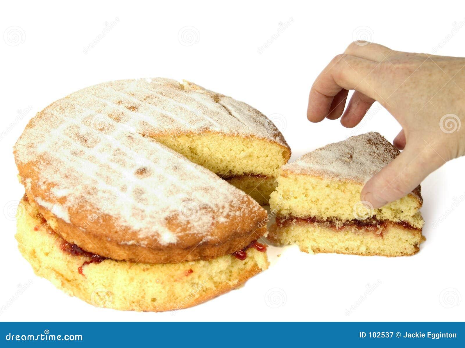 Kuchen u. Hand
