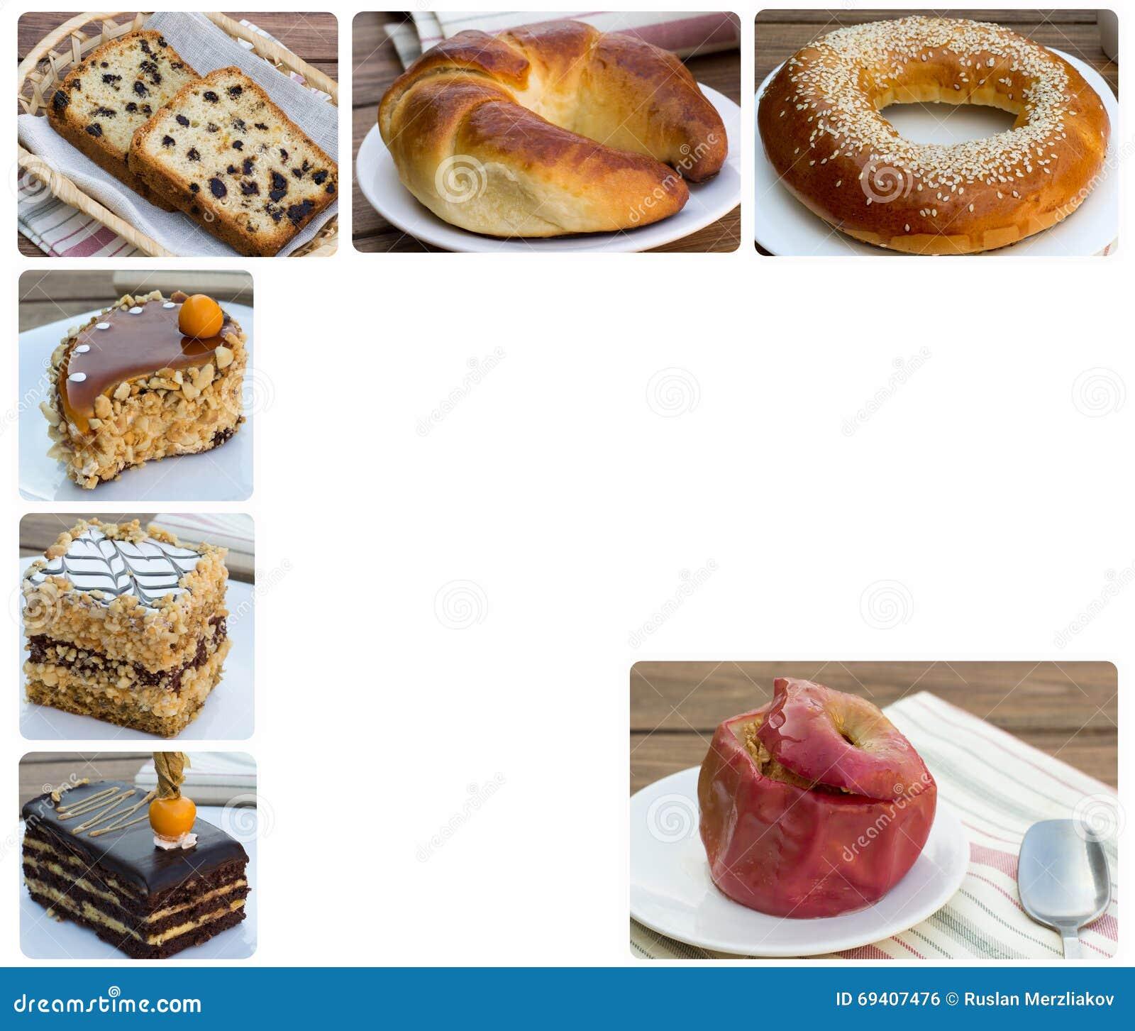 Kuchen Und Bratapfel Mit Hafermehl Stockfoto Bild Von Nachtisch