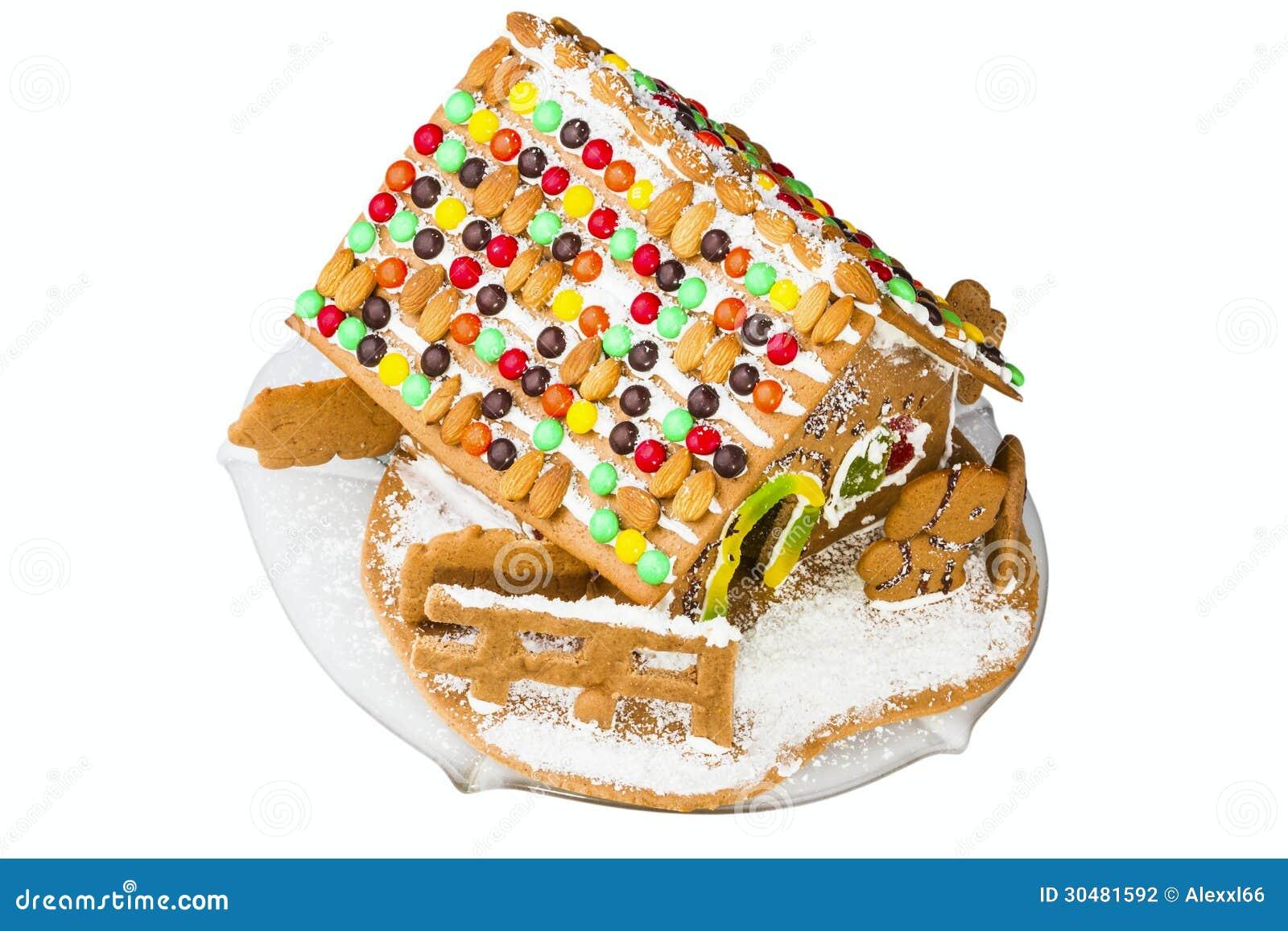 Kuchenhaus Stockfoto Bild Von Braun Grun Weihnachten 30481592