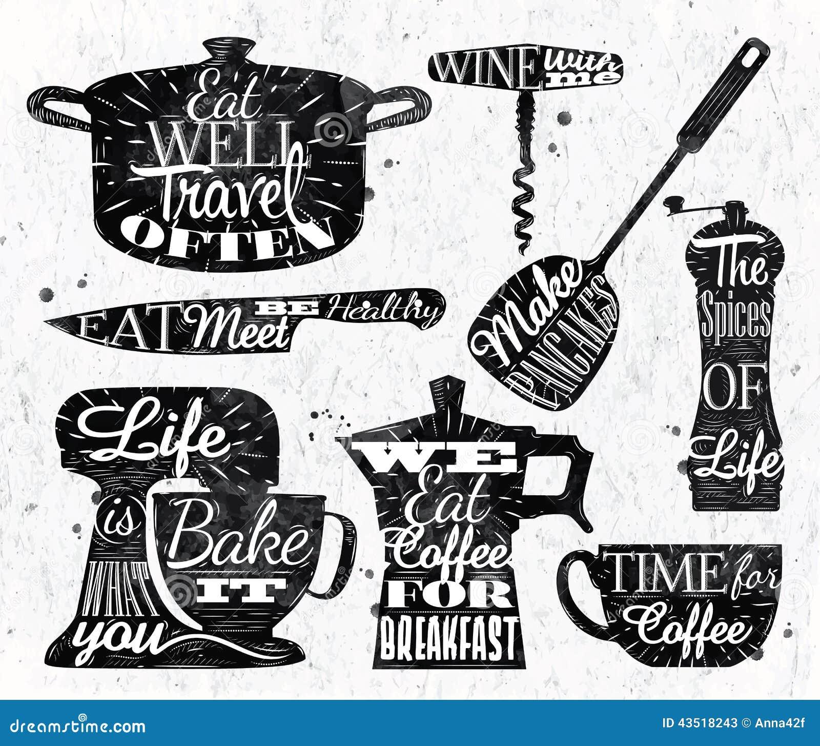 Kuchenna symbolu rocznika literowania restauracja
