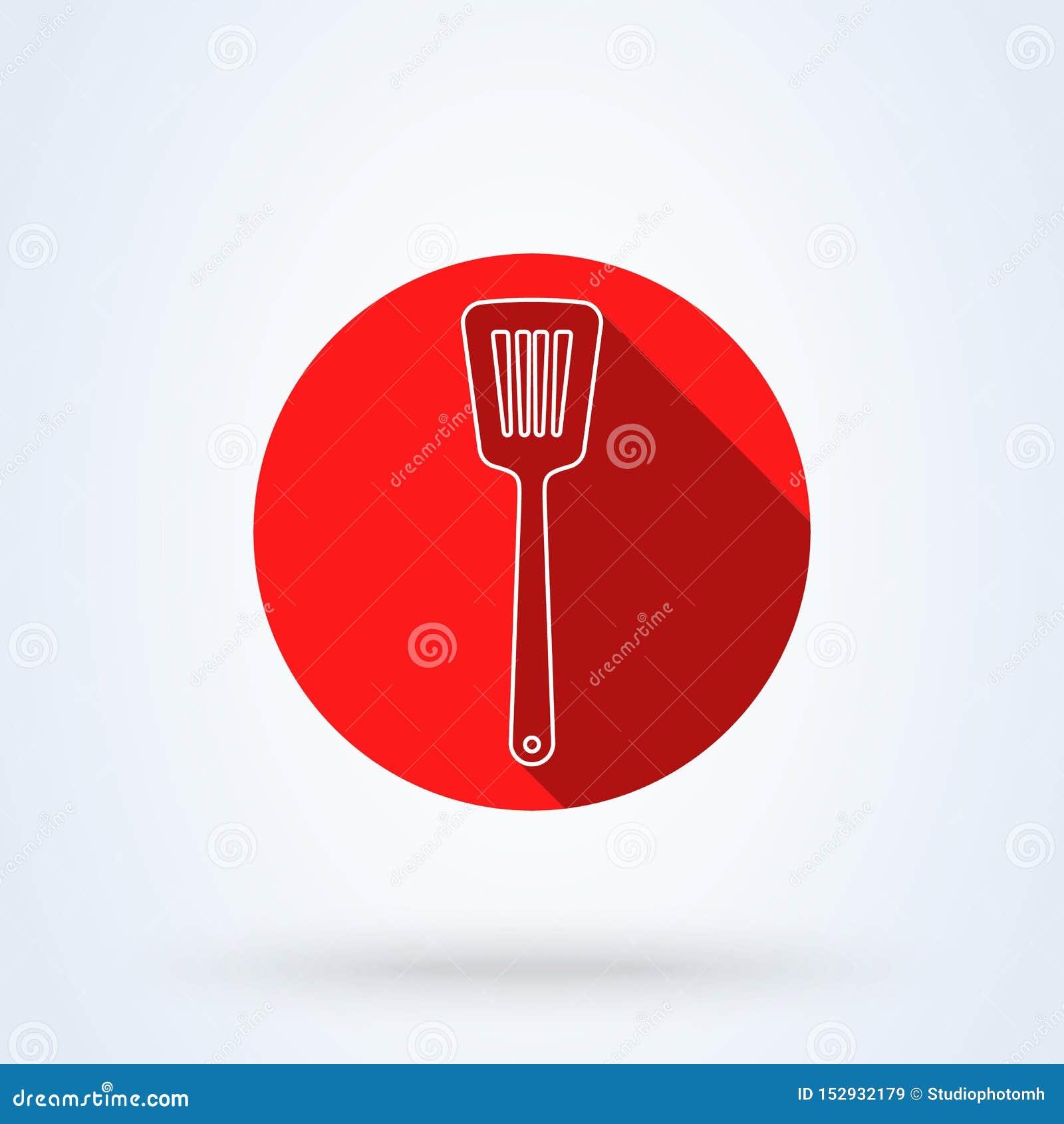 Kuchennej szpachelki Prosta kreskowa sztuka wektorowa nowożytna ikona projekta ilustracja