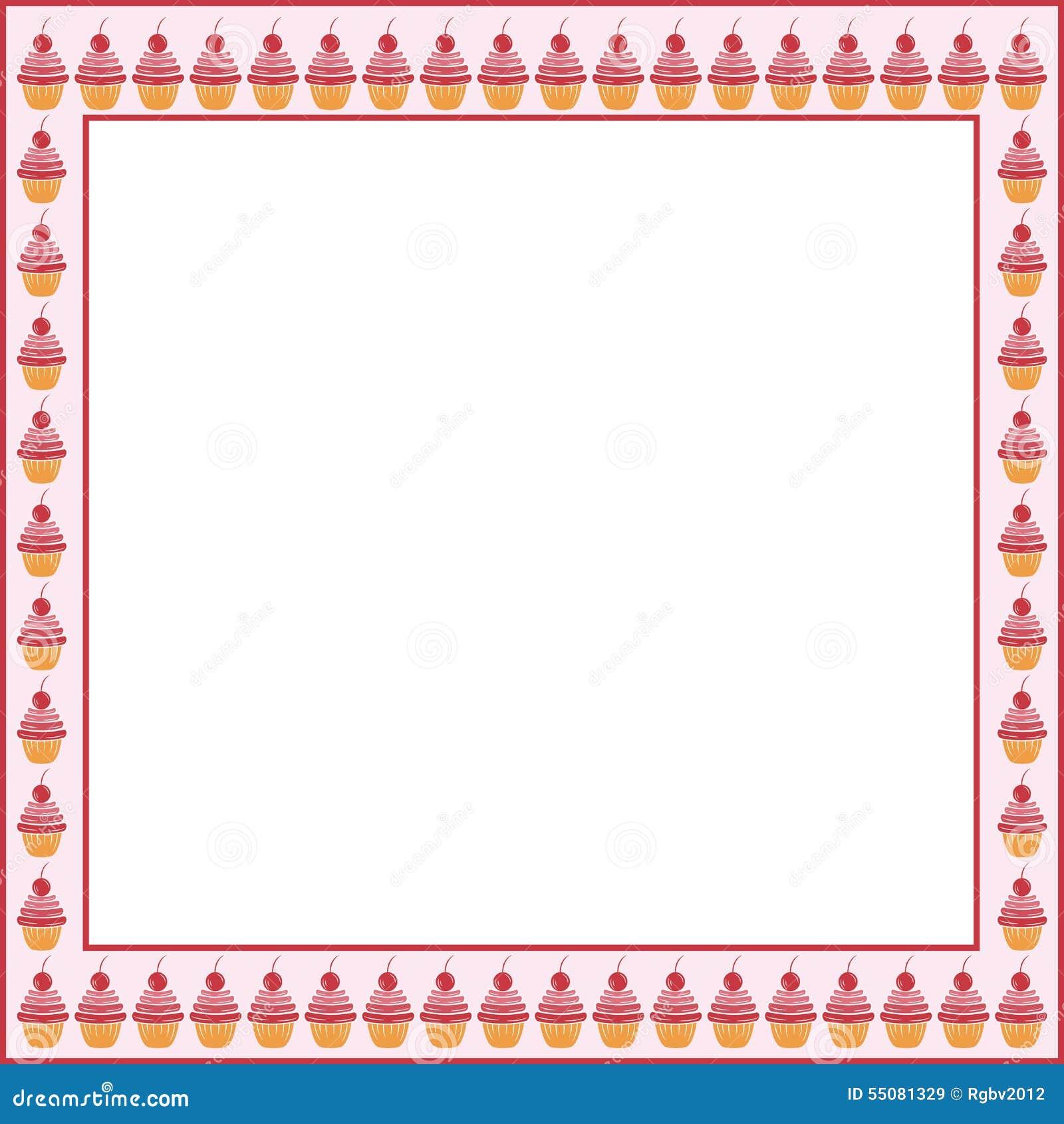 Kuchenrahmen vektor abbildung. Illustration von weiß - 55081329