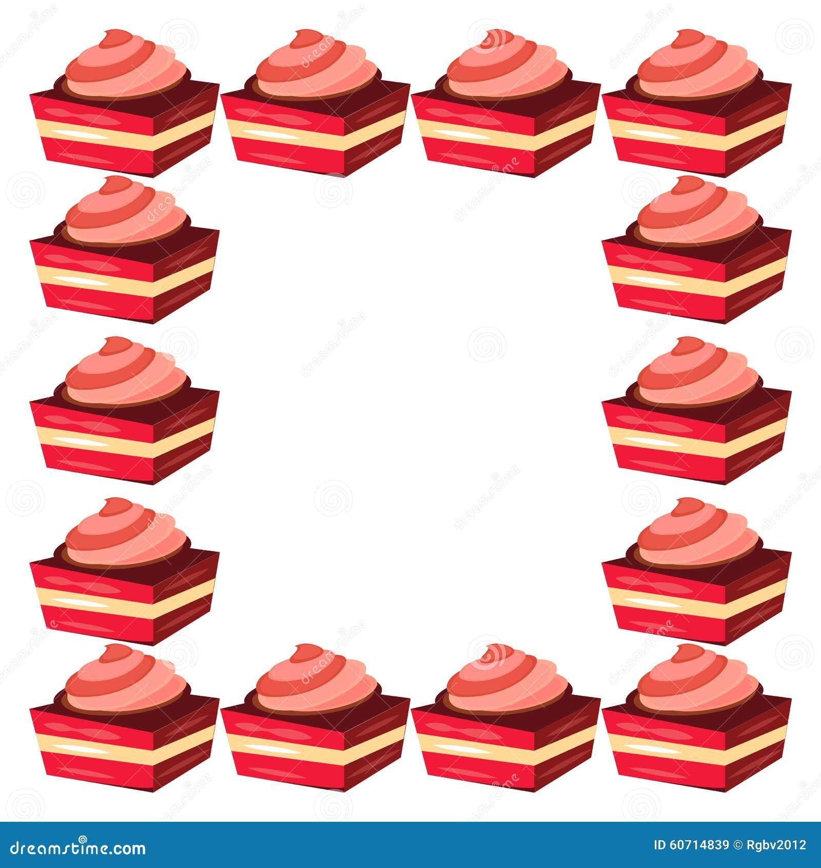 Kuchenrahmen stockbild. Bild von hintergrund, feld, erstklassig ...