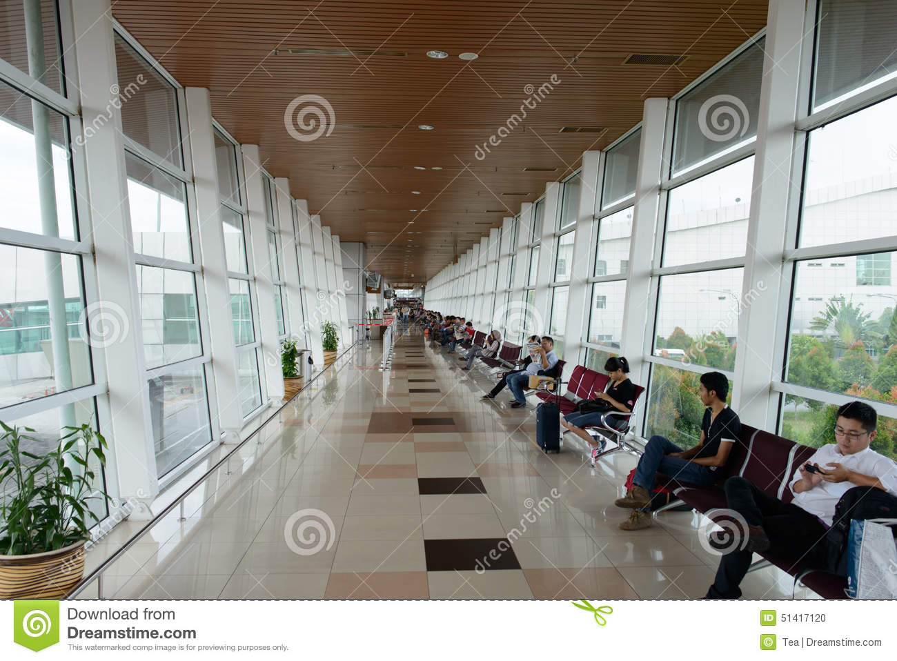 Kuching International Airport Interior Editorial Image