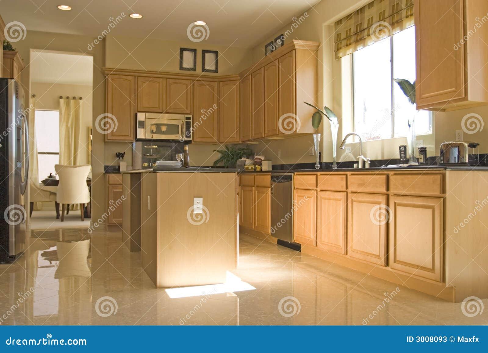 Kuchnia Nowoczesne Eleganckie Obraz Stock Obraz Złożonej Z