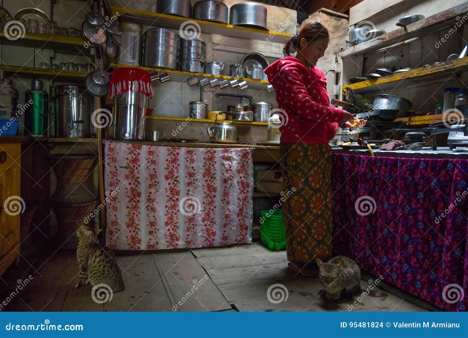 Kuchnia w herbacianym domu, Nepal