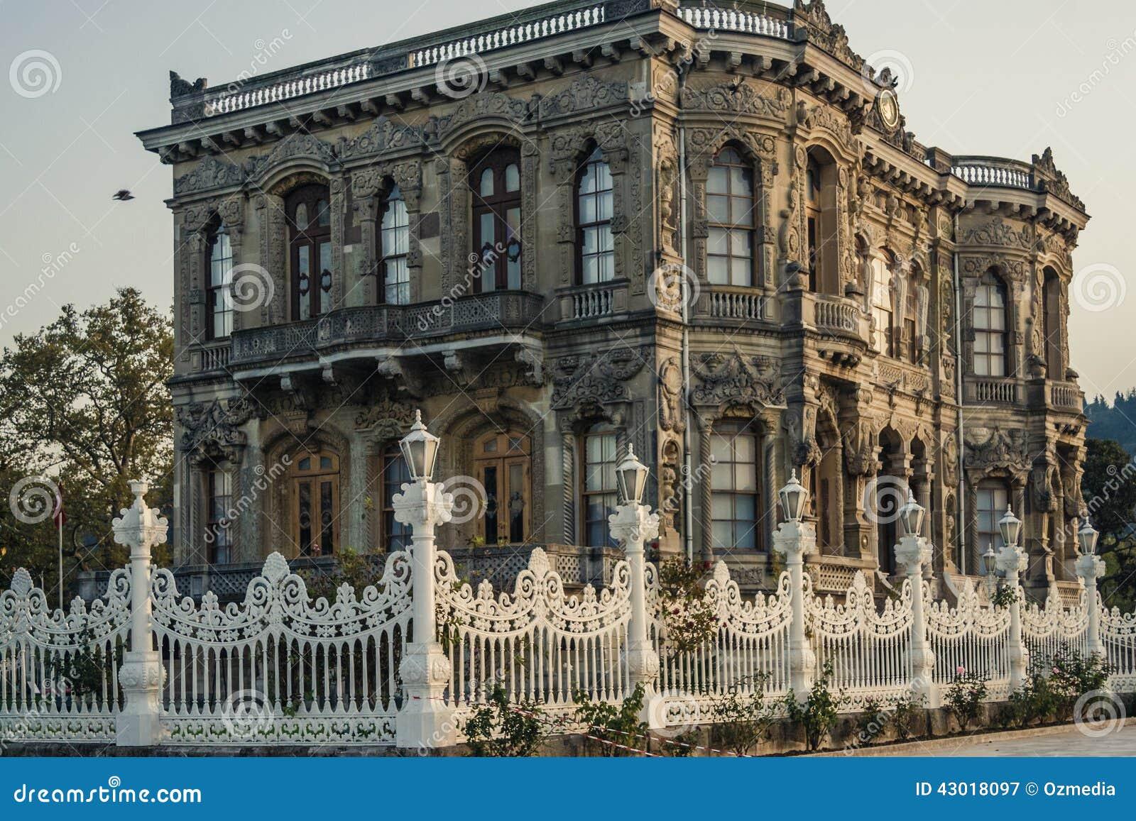 Kucuksu Pavilion In Bosporus, Istanbul Stock Photo - Image ...