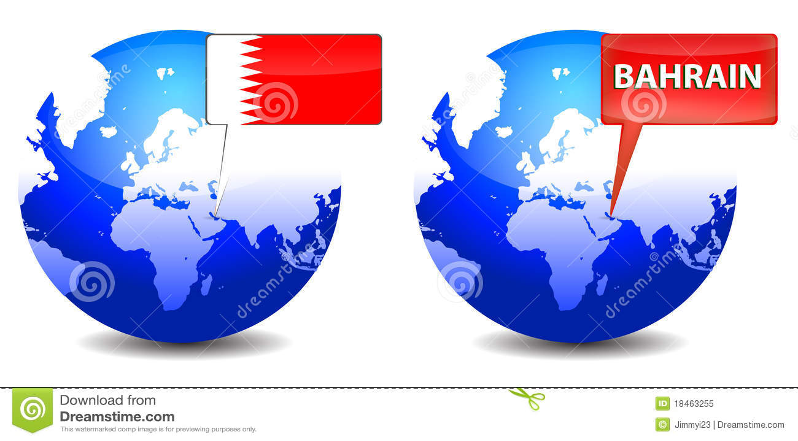 Kugel mit Bahrain-Zeichen