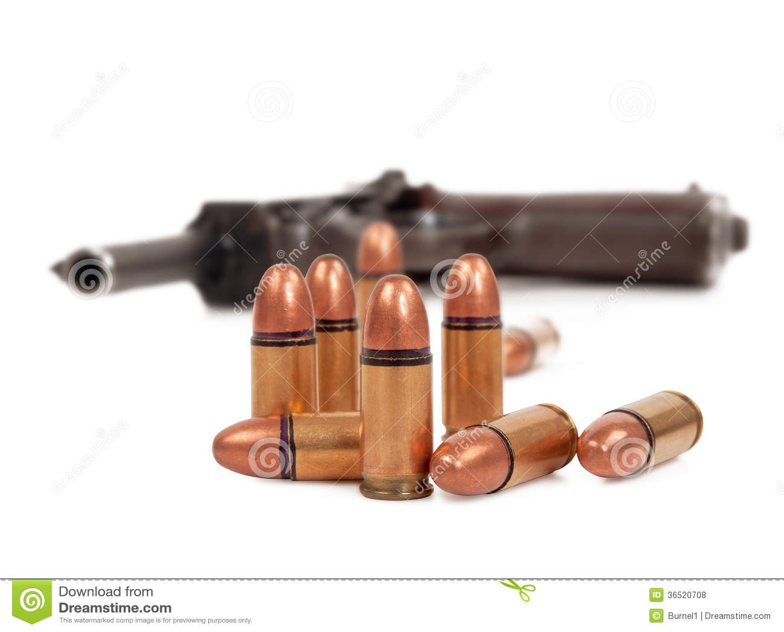 Kugeln und Pistole